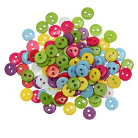 Разноцветные пуговки из Полисмола.