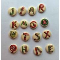 Пуговицы английские буквы.