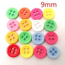 Разноцветные пуговки из пластика.