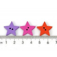 Пуговицы звезды окрашенные.