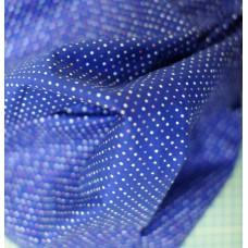 """Ткань """"Разноцветные горохи на синем""""."""