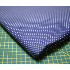 Ткань хлопок в синий горошек.