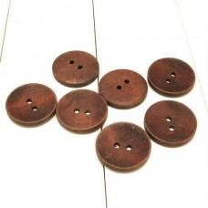 Пуговицы деревянные - 18 мм окрашенные.