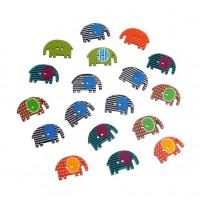 Разноцветные слоники.