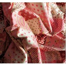"""Купить ткань в клетку """"Розовые квадраты""""."""