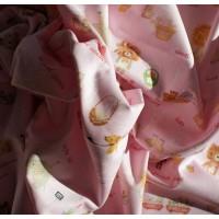"""Купить ткани недорого в Москве """"Лохматый мишка"""" розовая."""