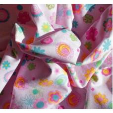 """Ткань """"Розовый цветок лотоса""""."""