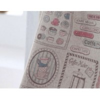 """ткань лен купить """"Кофейные зерна"""" набор."""