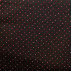 """Хлопковая ткань """"Красная точка""""."""