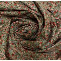 """Хлопковая ткань """"Вечерние цветы""""."""